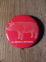 AA= PIG BADGE(57mm)-RD-
