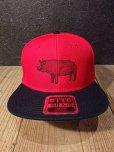 画像2: AA=  PIG SNAPBACK CAP (RD) (2)