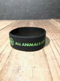 AA= GRID RUBBER WRIST BAND (BLACK×GREEN)