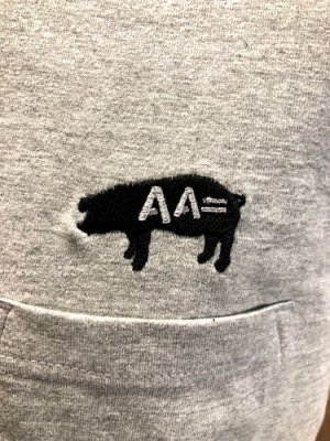 画像2: AA= PIG EMBROIDERY POCKET TEE (GY)