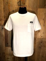 AA= PIG EMBROIDERY POCKET TEE (WH)